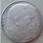 Германия 5 марок А 1936 Гинденбург