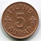 ИСЛАНДИЯ - 5 ЭРЕ 1942