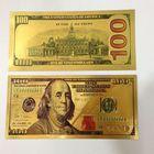 Золотая банкнота 100 новых долларов. распродажа