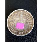 5 марок Германия A.(Третий Рейх) 1936 год. Серебро 900 пробы.Монета не чищена.45