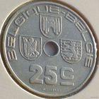 Бельгия, 25 сантимов 1939 года
