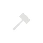 Ткань фланель оранжевая в белый горошек