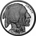 5 унций (155.5 г) серебро (999), Буффало/Индеец (США)
