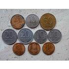 Набор 50, 20, 10, 5, 1 рублей 1992 - 1993 Россия 10 монет без повторов