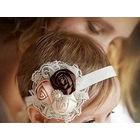 Повязка на голову - букет - для малышек - очень празднично - растягивается до размера взрослой головы (20)