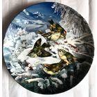 Декоративная тарелка ''Корольки на опушке леса'',фирма Hutschenreuthet,Германия,1992г.