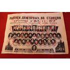 Фотография  Выпуск дежурных по станции  ТУ-27 гр.83 На фото33 человека.