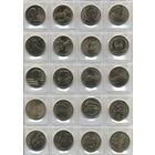 2злотых, Польша, 160 монет на 8 листах одним лотом ( без повторов). Листы в подарок.