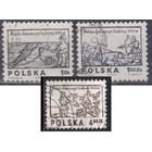 Польша 1974 искусство народная гравюра Охота рыбалка