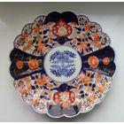 Тарелка большая (блюдо) фарфор. Начало 19 века. Ручная работа! ИМАРИ ,Япония!