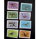 Вьетнам 1981 г. Птицы. Фауна . без перфорации. полная серия из 8 марок #0011-Ф1