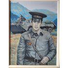 Афганистан портрет офицера с орденом холст масло