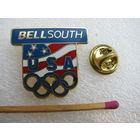 Знак-фрачник. Флаг США с Олимпийской символикой. тяжёлый, цанга.