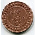 ТУНИС - 10 САНТИМ 1917