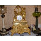Часы каминные, 19 век, гарантированный оригинал.
