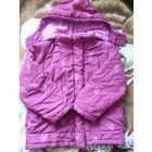 Куртка деми+ для девочки.на рост 110-122