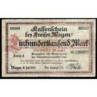 Германия город (Mayen) 100000 марок 1923 г. (283) (Большой размер)  распродажа