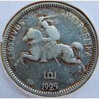 6 Литва 1 лит 1925 год, серебро