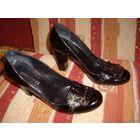 Туфли черные лаковая кожа