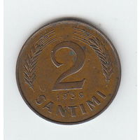 Латвия 2 сантими 1939