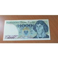 Польша 1000 злотых 1982 unc