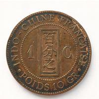 1 сантим 1889 г. Французский Индокитай