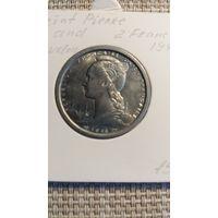 Сан Пьер и Микелон 2 франка 1948