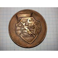"""Настольная медаль """"СКДА  Спортивный Комитет Дружественных армий""""  тяжёлый металл"""