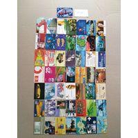 Лот телефонных карт разных стран 50 штук #22