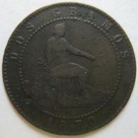 Испания 2 сентимо 1870 г. (d)