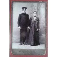 Фото Марии и Федора Самохваловых. Саратовская губерния. До 1917 г. 9х13 см.