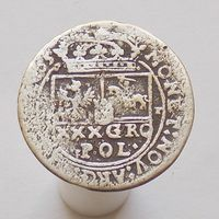 30 грошей (Тымф) 1665 Ян Казимир Ваза