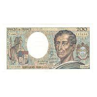 Франция 200 франков 1987 года. Тип P 155b. Подпись P. A. Strohl, D. Ferman and B. Dentaud. Редкая! Состояние XF+/aUNC!