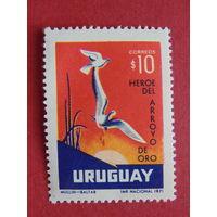 Уругвай 1971г. Птицы.