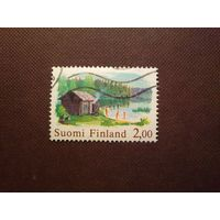 Финляндия 1999 г. Финская сауна и озеро.