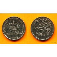 Тринидад и Тобаго 25 ЦЕНТОВ 1993г.  распродажа