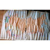 Карта СССР, 114х175 см