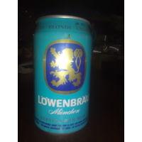 Банка от пива Лювенбрау.