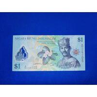 Банкноты мира. Бруней 1 доллар