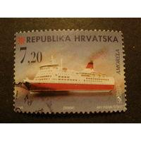 Хорватия 1998г. корабль