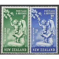 Новая Зеландия. Здоровье детей. Медсестра с ребёнком. 1949г. Mi#307-08. Серия.