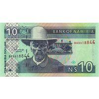 Намибия 10 долларов образца 2001 года UNC p4c