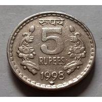5 рупий, Индия 1998 г., звезда