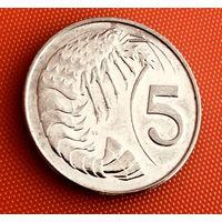 100-24 Каймановы острова, 5 центов 2005 г.