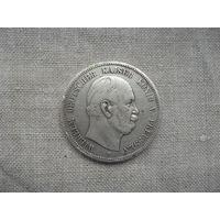 Германская империя Пруссия  5 марок серебро 1876 год от 1 рубля без МЦ