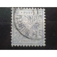 Вюртемберг 1881 служебная марка 20пф