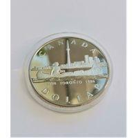 Канада 1 доллар, 1984 150 лет городу Торонто. Серебро. С рубля