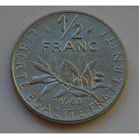 Франция, 1/2 франка 1983 г.
