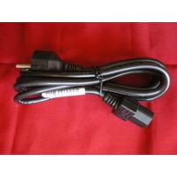 Силовой кабель питания 220В (для подключения компьютера(ПК), монитора, принтера), 1,6м.