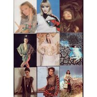 9 календариков Девушки